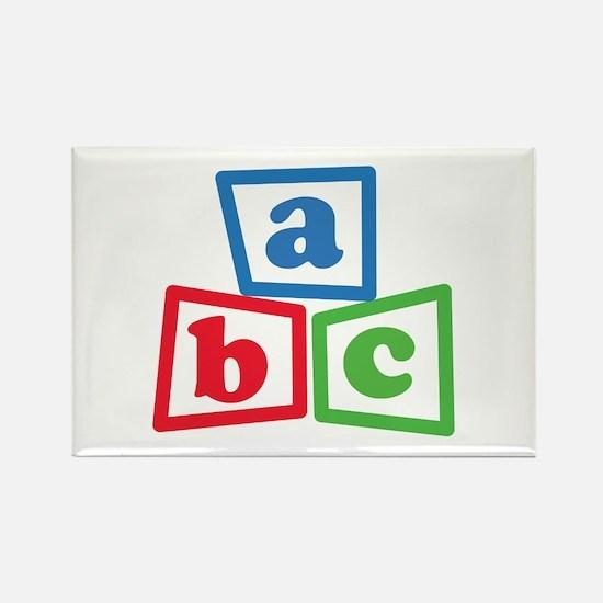 ABC Blocks Rectangle Magnet (100 pack)