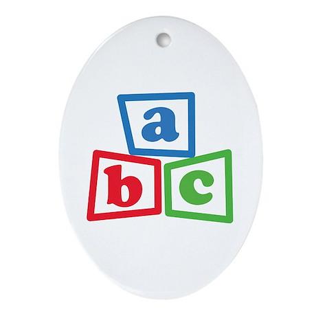 ABC Blocks Ornament (Oval)