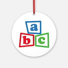 ABC Blocks Ornament (Round)