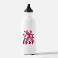 My wife is my hero Water Bottle