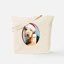 Airedale Terrier Santa Tote Bag