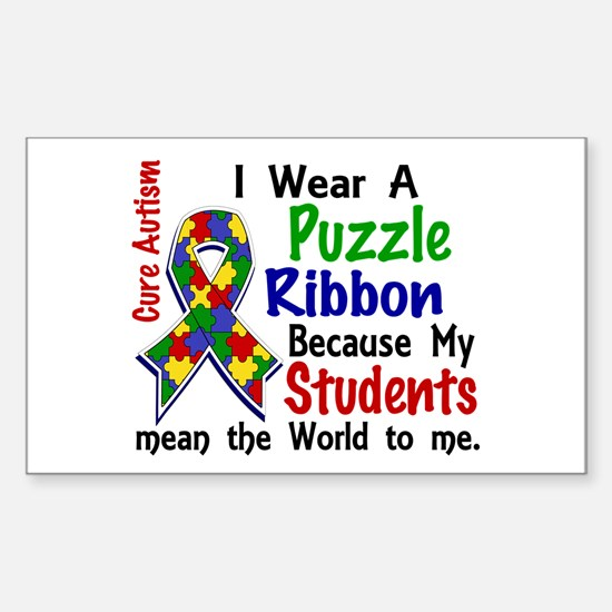 Means World To Me 4 Autism Sticker (Rectangle)