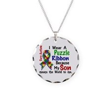 Means World To Me 4 Autism Necklace
