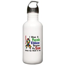 Means World To Me 4 Autism Water Bottle