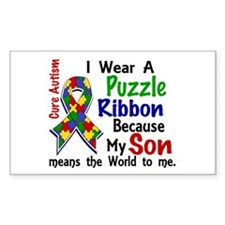 Means World To Me 4 Autism Decal