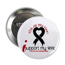 """With All My Heart Melanoma 2.25"""" Button"""