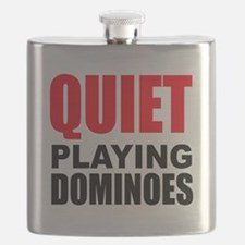 Quiet Playing Dominoes Flask
