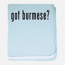 GOT BURMESE baby blanket
