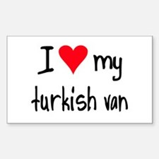 I LOVE MY Turkish Van Decal