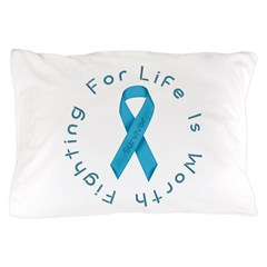 LightBlue Ribbon - Survivor Pillow Case