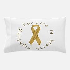 Gold Ribbon - Survivor Pillow Case