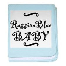 Russian Blue BABY baby blanket