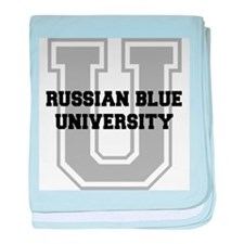 Russian Blue UNIVERSITY baby blanket