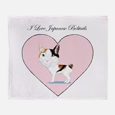 I Love Japanese Bobtails Throw Blanket
