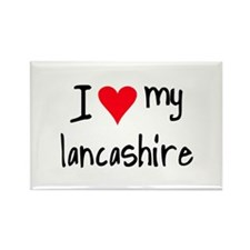I LOVE MY Lancashire Rectangle Magnet
