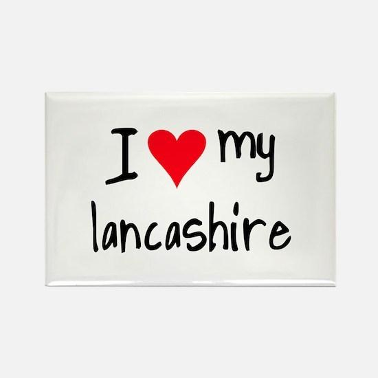 I LOVE MY Lancashire Rectangle Magnet (10 pack)