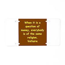 voltaire Aluminum License Plate
