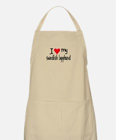 I LOVE MY Swedish Lapphund Apron
