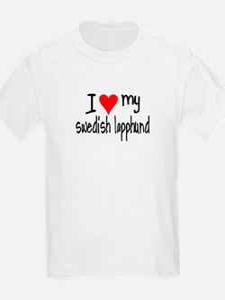 I LOVE MY Swedish Lapphund T-Shirt
