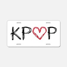 KPOP Love Scribble Aluminum License Plate