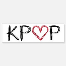 KPOP Love Scribble Bumper Bumper Sticker