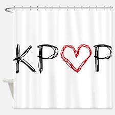 KPOP Love Scribble Shower Curtain