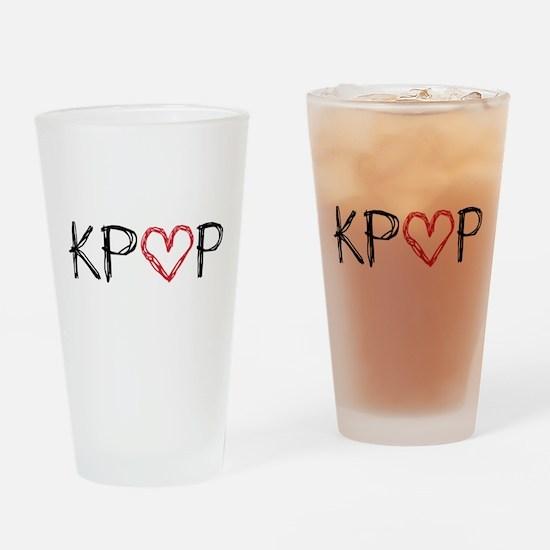 KPOP Love Scribble Drinking Glass