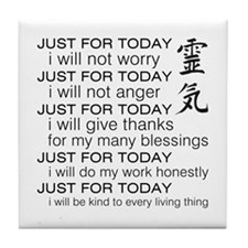 Just For Today Tile Coaster