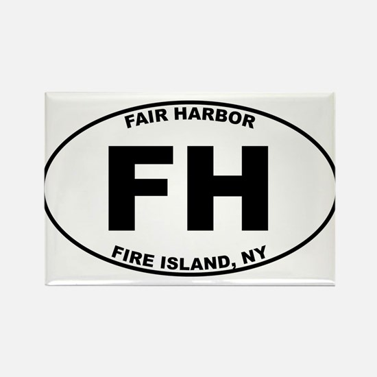 Fair Harbor Fire Island Rectangle Magnet (100 pack