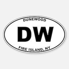 Dunewood Fire Island Sticker (Oval)