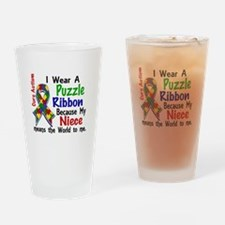 Means World To Me 4 Autism Drinking Glass