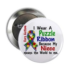 """Means World To Me 4 Autism 2.25"""" Button (10 pack)"""