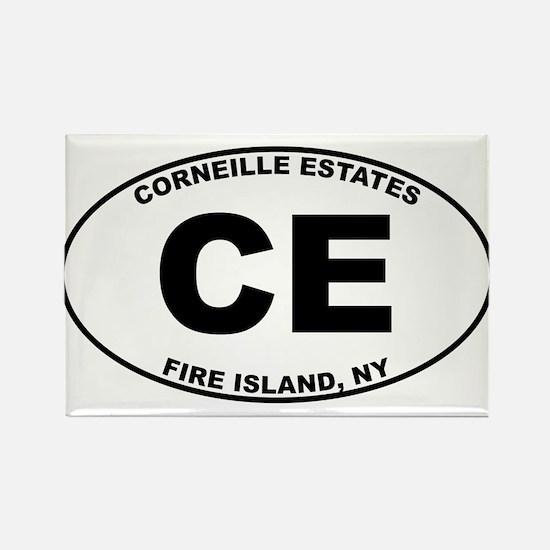 Corneille Estates Fire Island Rectangle Magnet