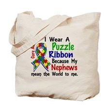 Means World To Me 4 Autism Tote Bag