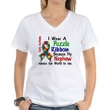 Autism nephew Womens V-Neck T-shirts