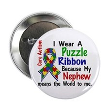 "Means World To Me 4 Autism 2.25"" Button"