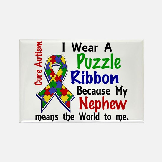 Means World To Me 4 Autism Rectangle Magnet