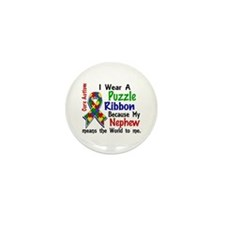 Means World To Me 4 Autism Mini Button (10 pack)