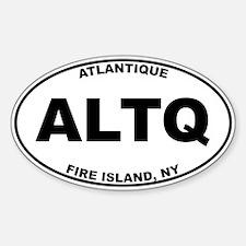 Atlantique Fire Island Sticker (Oval)