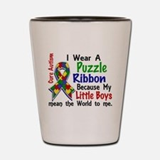 Means World To Me 4 Autism Shot Glass