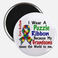 """Means World To Me 4 Autism 2.25"""" Magnet (10 pack)"""