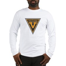 White Long Sleeve Voices Shield T-Shirt