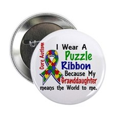 """Means World To Me 4 Autism 2.25"""" Button"""