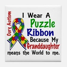 Means World To Me 4 Autism Tile Coaster