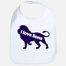 i love lions Bib