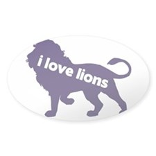 i love lions Decal