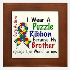 Means World To Me 4 Autism Framed Tile