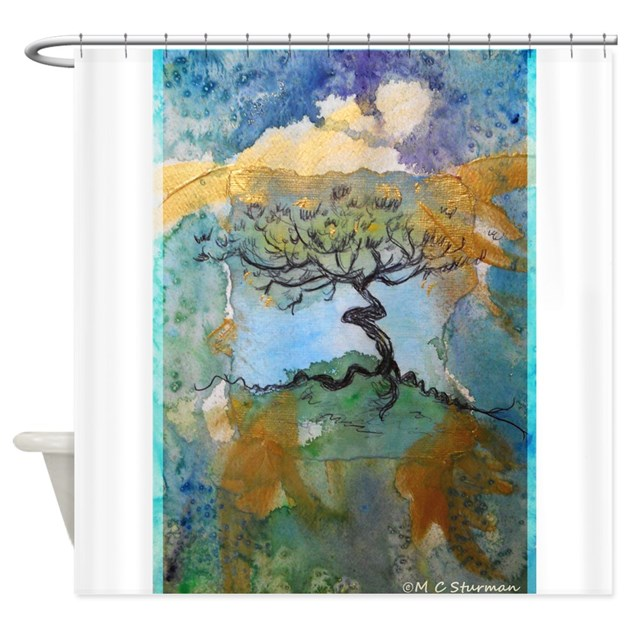 Tree of Life, art, Shower Curtain by Meowriesnewwork