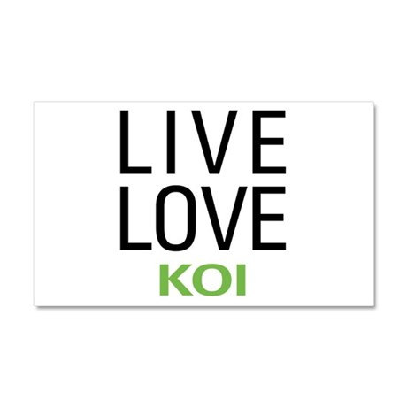 Live Love Koi Car Magnet 20 x 12