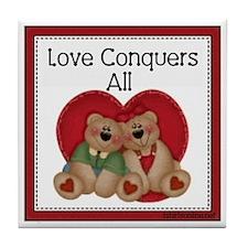 Love Conquers All Teddy Bear Tile
